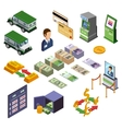 Banking Isometric Icons Set vector image vector image