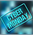 banner with cyber monday sign vector image vector image