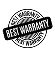 Best Warranty rubber stamp vector image vector image