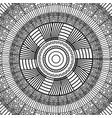 black and white geometric mandala tribal round vector image