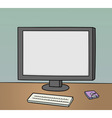 blank monitor background vector image vector image
