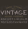 calligraphic vintage font retro capital letters vector image vector image