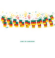 cameroon garland flag with confetti vector image vector image