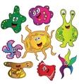 Cartoon cute monsters vector image vector image