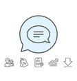 chat line icon speech bubble sign vector image