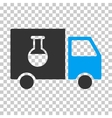 Chemical Delivery Truck Eps Icon vector image vector image