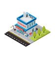 cinema movie theater isometric buildings vector image