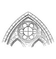 clerestory or window showing a sexfoil window vector image vector image
