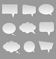 cloud bubble speech vector image vector image