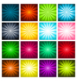 Colorful Bursting Backgrounds vector image