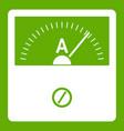 counter icon green vector image vector image