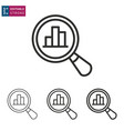 data analysis line icon on white background vector image vector image