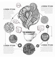 Decorative sketch of cup of coffee or tea coffee