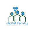 digital family design template vector image vector image