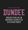 dundee inline slab serif font typeface alphabet vector image vector image