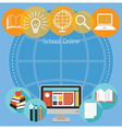 Education E-Learning Objects Icons Background vector image vector image