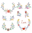 Floral wreathes collection vector image vector image