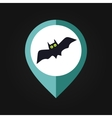 Halloween Bat mapping pin icon vector image vector image