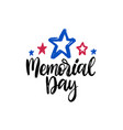 happy memorial day handwritten phrase in vector image