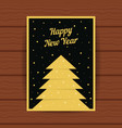 happy new year with golden greeting card vector image vector image
