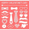 Happy valentines day icons set Hipster objects vector image vector image
