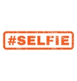 Hashtag Selfie Rubber Stamp vector image vector image