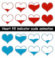 heart fill animation vector image vector image