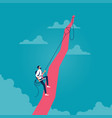 keep growing up-business goal concept vector image