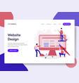 landing page template website design concept vector image vector image