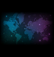 map of the world abstract background vector image