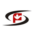maple swoosh initial s f vector image vector image