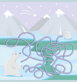 maze game for children with polar bears vector image vector image