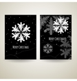 Merry Christmas black and white cards with vector image