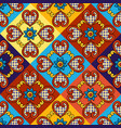 mexican talavera ceramic tile seamless pattern vector image