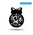 new year ball with patterns icon vector image vector image