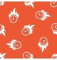 Orange burning time pattern vector image vector image