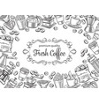 page design template coffee vector image vector image