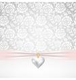 pearl heart pendant vector image vector image