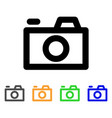 photo camera stroke icon vector image