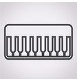 piano icon vector image vector image