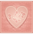 Pink lace in heart shape vector image vector image