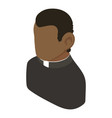 priest african american icon isometric 3d style vector image vector image