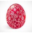 Red ornate easter egg vector image vector image