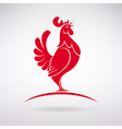 Rooster Crows vector image vector image