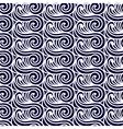 Sea Seamless Pattern Abstract asian waves vector image