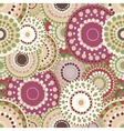 Seamless retro pattern with vintage bright vector image vector image