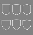 security assurance icons set guard shield plain vector image vector image