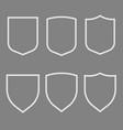 security assurance icons set guard shield plain vector image