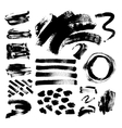 set of 42 black ink hand drawing brushes vector image vector image