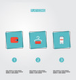 set of shopping icons flat style symbols with vector image vector image